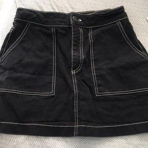 Zara black skirt with white detail